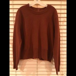 jc crew wool sweater with back zipper.